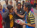લોકોમાં જાગ્રૃતિ ફેલાવવા ભારત ભમ્રણે નીકળેવી બે યુવતીઓ વડોદરા આવી પહોંચી| - Divya Bhaskar