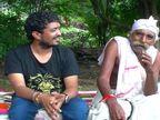 ગીરના નેસડામાં રાજભા ગઢવી સાથે બેસી ભાભલાએ દુહા-છંદ લલકાર્યા| - Divya Bhaskar