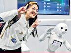 સ્માર્ટ ટેક્નોલોજી: ચીનના એક્સ્પોમાં રોબોટ વિઝિટર્સની નકલ કરતો જોવા મળશે| - Divya Bhaskar