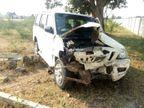 રાજકોટના ખંઢેરી સ્ટેડિયમ પાસે મેચના સ્કોરરની ગાડીનો અકસ્માત, ખાનગી હોસ્પિટલ ખસેડાયા| - Divya Bhaskar