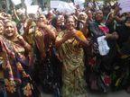 પાટણ: લોકોની રોજી છિનવાતાં કોંગી MLAની લડત, રેલીમાં અર્ધનગ્ન થઈ વિરોધ નોંધાવ્યો|પાટણ,Patan - Divya Bhaskar