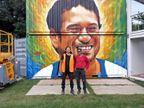 ગૌરવ/ગોંડલના ચિત્રકારના વોલ પેઈન્ટિંગનો ઓસ્ટ્રેલિયાના મેલબોર્નમાં ઇન્ડિયન આર્ટ ફેસ્ટિવલમાં દબદબો  - Divya Bhaskar