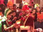 મોરબીઃ લગ્ન પહેલાં વરરાજા-દુલ્હને ભારતમાતાની આરતી ઉતાર્યા બાદ સાત ફેરા લીધા| - Divya Bhaskar