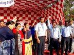 અમદાવાદ એરપોર્ટના ખાનગીકરણ સામે કર્મચારીઓનો વિરોધ, ભૂખ હડતાલ પર ઉતર્યા| - Divya Bhaskar