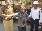 રાજકોટની CP ઓફિસમાં વ્યાજખોરોના ત્રાસથી વૃદ્ધનો કેરોસીન છાંટી આત્મવિલોપનનો પ્રયાસ  - Divya Bhaskar