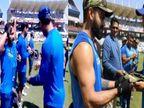 ટીમ ઇન્ડિયા આર્મી કેપ પહેરી ઉતરી મેદાનમાં, દુનિયાએ કરી વાહ વાહ| - Divya Bhaskar