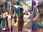 વિદેશી સહેલાણીઓએ  'રંગીન' અંદાજમાં કરી હોળીની ઉજવણી, રંગવા આવેલા યુવકોને જોઈ યુવતીએ બધા કપડાં ઊતારી નાંખ્યા| - Divya Bhaskar