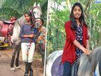 ઘોડા પર સ્કૂલે જનારી કૃષ્ણા બની સોશિયલ મીડિયા સ્ટાર, એક મિત્રએ ટોણો મારતા લાગી આવ્યું અને શીખી ઘોડેસવારી  - Divya Bhaskar