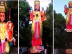વાઈરલ થઈ હનુમાનની વિશાળ ફોલ્ડેબલ પ્રતિમા, રામ-લક્ષ્મણે જમાવ્યું આકર્ષણ| - Divya Bhaskar