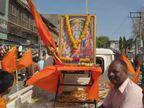સૌરાષ્ટ્રમાં રામનવમીની ઉજવણી, રાજકોટ, ગોંડલમાં શોભાયાત્રા નીકળી  - Divya Bhaskar