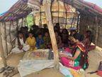 બન્નીમાં વરસાદી પાણી ભરાતા સ્થળાંતરિત સ્થળે ટેન્ટમાં પ્રાથમિક શાળા શરૂ કરાઈ| - Divya Bhaskar