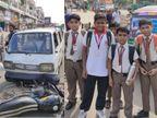 વડોદરામાં રોંગ સાઇડ જતી સ્કૂલ વાને બાઇકને ટક્કર મારી, વિદ્યાર્થીઓનો બચાવ, વાનચાલક ફરાર| - Divya Bhaskar
