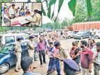 RTOમાં હોબાળાના મેસેજથી પોલીસ દોડી, વિરોધ માટે કોંગ્રેસની 8 મહિલા આવી ગાંધીનગર,Gandhinagar - Divya Bhaskar