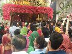 પહેલા નોરતે માઈ ભક્તોએ અંબાજીમાં મા અંબાના દર્શનનો લાભ લીધો, ભક્તોનું ધોડાપૂર|પાલનપુર,Palanpur - Divya Bhaskar