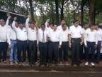 ખાનગી શાળાઓ બંધ રાખી સંચાલકોએ આવેદનપત્ર આપ્યું તો વાલીઓએ પણ ક્લેક્ટરને રજૂઆત કરી|સુરત,Surat - Divya Bhaskar