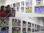 મહિલા ફોટોગ્રાફરે ઇન્ડિયન વુમન ક્રિકેટર્સની 6 વર્ષની જર્નીની ફોટોગ્રાફી કરી, ક્રિકેટ ટીમે એક્ઝિબિશન નિહાળ્યું| - Divya Bhaskar