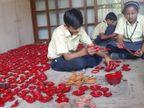 પ્રજ્ઞાચક્ષુ શાળાના બાળકોએ 6000 દીવડા બનાવ્યા,આવક બાળકો પાછળ ખર્ચાશે|પાલનપુર,Palanpur - Divya Bhaskar