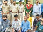 કાળિયાર હરણના ચામડાં સાથે આઠ શખ્સ ઝડપાયા, શિકાર કરી ચામડું વેચવા આવ્યા હતા|જામનગર,Jamnagar - Divya Bhaskar