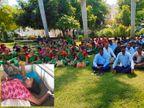 ઈજા કર્મચારીને સજા બાળકોને, 450 શાળા-આંગણવાડીના 1 લાખ બાળકો ભૂખ્યાં રહ્યાં| - Divya Bhaskar