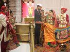 ખોડલધામમાં પ્રથમ લગ્ન યોજાયા, વર-કન્યાએ મંદિર પરિસરમાં વૃક્ષારોપણ કરીને પર્યાવરણ જાગૃતિનો સંદેશો આપ્યો  - Divya Bhaskar