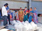 કિન્નર સમાજનું 10 લાખ રૂપિયાના ખર્ચે શહેરમાં અનાજ કિટ-માસ્કનું વિતરણ|સુરત,Surat - Divya Bhaskar