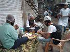 સુરતમાં પહેલાં કોરોના દર્દીને અગ્નિદાહ આપ્યો, બાદમાં ફુટપાથ પર બેસી રોઝો ખોલ્યો|સુરત,Surat - Divya Bhaskar