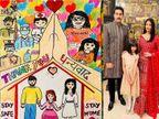 8 વર્ષની આરાધ્યાએ કોરોના વોરિયર્સનો આભાર માનવા ડ્રોઈંગ બનાવ્યું, ઐશ્વર્યા-અમિતાભ-અભિષેકે તસવીર શૅર કરી બોલિવૂડ,Bollywood - Divya Bhaskar