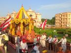 વેડરોડ ગુરૂકુળ પરિસરમાં જ ભગવાન જગન્નાથની 10મી રથયાત્રા યોજાઈ,ભાવિકોએ ઓનલાઈન ઝાંખી કરી|સુરત,Surat - Divya Bhaskar