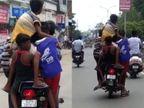 ઉપરા છાપરી 5 બાળકોને બાઇકમાં બેસાડીને યુવાને રોડ પર પુરપાટ ઝડપે જોખમી સ્ટંટ કર્યાં, વીડિયો વાઈરલ|ભરૂચ,Bharuch - Divya Bhaskar