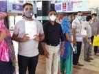 મંજૂરી મેળવનાર લોકોને પણ નથી મળતા ટોસિલિઝુમેબ ઈન્જેક્શન, સિવિલ હોસ્પિટલમાં લોકોની લાઈન લાગી|સુરત,Surat - Divya Bhaskar