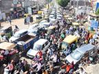 રક્ષાબંધનના રોજ આખું રાજકોટ રસ્તા પર ઉતર્યુંઃ કોરોના ભૂલી ટ્રાફિક જામ કર્યો|રાજકોટ,Rajkot - Divya Bhaskar