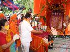 અયોધ્યામાં રામ મંદિર શિલાન્યાસની ફટાકડા ફોડી ઉજવણી, પ્રદેશ પ્રમુખ પાટીલે ભગવાન રામની પૂજા-અર્ચના કરી|સુરત,Surat - Divya Bhaskar