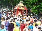 જિનચન્દ્રસૂરીશ્વરજી મહારાજની પાલખી યાત્રા નીકળી, તેમણે 169 લોકોને દિક્ષા આપી હતી|સુરત,Surat - Divya Bhaskar