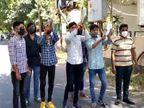 રાજકોટમાં NSUIએ 50 ટકા સ્કૂલ ફી ઘટાડવાની માંગ સાથે થાળી વગાડી જિલ્લા કલેક્ટર કચેરીમાં વિરોધ કર્યો, અટકાયત|રાજકોટ,Rajkot - Divya Bhaskar