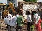 જસદણના શિવનગરમાં ડિમોલિશન કરી ગરીબ પરિવારને પાલિકાએ બેઘર કર્યા|જસદણ,Jasdan - Divya Bhaskar