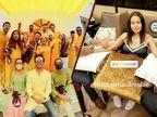 નેહા કક્કર-રોહન પ્રીત સિંહના લગ્નની વિધિઓ શરૂ, મહેંદી-હલ્દી સેરેમનીની તસવીરો વાઇરલ|બોલિવૂડ,Bollywood - Divya Bhaskar