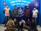 સુરતમાં ગારમેન્ટની દુકાનમાં IPLની મેચ પર રમાતા સટ્ટા પર પોલીસે છાપો માર્યો, 6 આરોપીની 15.70 લાખના મુદ્દામાલ સાથે ધરપકડ|સુરત,Surat - Divya Bhaskar