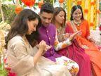 કંગનાએ જાતે ભાઈના હાથમાં મહેંદી મૂકી, લાખોની કિંમતના ફૂલોથી હોટલ સજાવવામાં આવી બોલિવૂડ,Bollywood - Divya Bhaskar