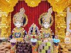 વલસાડ સ્વામિનારાયણ મંદિર ખાતે કલાત્મક રંગોળી અને અન્નકૂટના હરિ ભક્તોએ દર્શન કર્યા|વલસાડ,Valsad - Divya Bhaskar