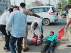 કૃષિ બિલ કાયદાનો વિરોધ કરતાં કિસાનસભાના 20 કાર્યકરોની અટક, હિંમતનગર ડેપો આગળ રસ્તો બ્લોક કરવાનો પ્રયાસ હિંમતનગર,Himatnagar - Divya Bhaskar
