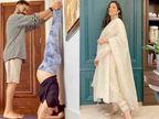પ્રેગ્નન્સીમાં અનુષ્કા શર્માએ પતિ વિરાટ કોહલીની મદદથી શીર્ષાસન કર્યું, બોલી- આ સૌથી અઘરું આસન|બોલિવૂડ,Bollywood - Divya Bhaskar