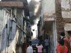 પાદરામાં બંધ મકાનમાં આગ લાગતા ફળિયામાં અફરાતફરી મચી, ફાયર બ્રિગેડે આગ કાબૂમાં લીધી, પણ મકાન બળીને ખાખ|વડોદરા,Vadodara - Divya Bhaskar
