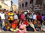 સુરતના વેસુમાં પ્રધાનમંત્રી આવાસ યોજનાના 660 ફ્લેટ ધારકોને કબ્જો ન સોંપવામાં આવતાં વિરોધ પ્રદર્શન|સુરત,Surat - Divya Bhaskar