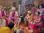 આદિત્ય નારાયણે ઈસ્કોન મંદિરમાં લગ્ન કર્યાં, વરમાળાથી લઈ ફેરા સુધીની ખાસ તસવીરો|ટીવી,TV - Divya Bhaskar
