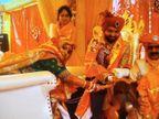 જામનગરના પરિવારે દ્વારકાની ગૌશાળામાં મંડપ બાંધી ગાયો વચ્ચે પુત્રના લગ્ન કર્યા|દ્વારકા,Dwarka - Divya Bhaskar