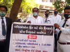 સુરતમાં કોર્ટ શરૂ થાય અને જરૂરીયાતમંદ વકીલોને 2 લાખ રૂપિયાની લોન આપવાની માંગ સાથે વકીલોના પ્રતિક ઉપવાસ|સુરત,Surat - Divya Bhaskar