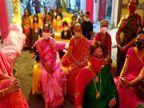 રાજકોટમાં લગ્નસરામાં કોરોના કાળ વચ્ચે જૂની પરંપરા યાદ આવી, હોટલ પાર્ટી પ્લોટ ભૂલી લોકો ઘર આંગણે જ લગ્ન-પ્રસંગ કરવાનું પસંદ કરી રહ્યાં છે|રાજકોટ,Rajkot - Divya Bhaskar