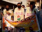 સુરતના અમરોલીમાં અનાજની કાળાબજારીના આક્ષેપ સાથે કોંગ્રેસ દ્વારા પૂરવઠાની કચેરીએ તાળાબંધીનો કાર્યક્રમ અપાયો, પોલીસે અટકાયત કરી|સુરત,Surat - Divya Bhaskar