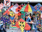 વાડીફળીયા રોડ અને ડબગરવાડના પતંગ બજારમાં ખરીદીનો માહોલ જામ્યો|સુરત,Surat - Divya Bhaskar