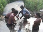 તેના ખાડીમાંથી પસાર થતી પાણી લાઇનમાં ભંગાણ 20 દિવસથી ભાટા,ભાટપોર સહિતના ગામોને હાલાકી|સુરત,Surat - Divya Bhaskar